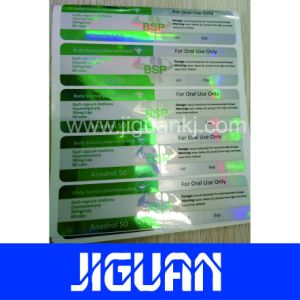Factory Wholesale Tubular Pharmaceutical Custom 10ml Hologram Vial Label pictures & photos