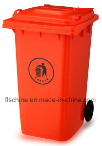 Good Quality of 240L Outdoor Plastic Mobile Garbage Bin (FLS-240L/HDPE/EN840) pictures & photos