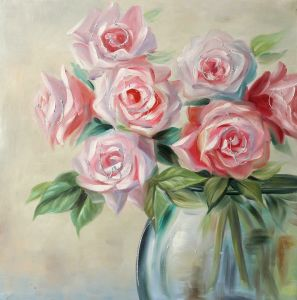 China pink rose floral paintings canvas wall art with glitter pink rose floral paintings canvas wall art with glitter mightylinksfo