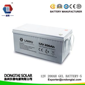 12V 200ah VRLA Deep-Cycle Solar Gel Battery for Power Station
