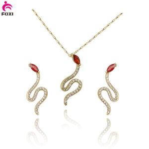 China Flower Design Pendant Earring Wedding Bridal Jewelry Set