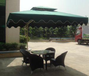 Aluminum Patio Garden Umbrella Cantilever Umbrella 2.1*2.1m Square