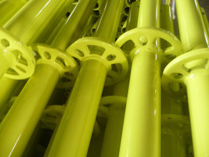Yellow Painted Ringlock Scaffolding Vertical High Quality pictures & photos