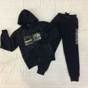 Boy Fleece Tracksuits with Zipper Sq-6456