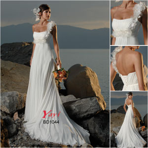 Charming Wedding Dress, Beach Wedding Gown (BD1044)