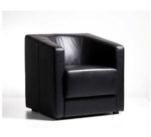 Office Public Area Fabric, PU, Leather Single Seater Sofa (AQ 043)