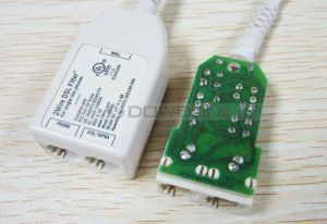 2 Ports Dual DSL ADSL RJ45 Splitter for Phone and Modem pictures & photos
