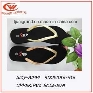 2016 New Arrival Shining Women′s Flip Flops pictures & photos