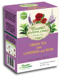 Lavender Flavored Green Tea Pyramid Tea Bag Premium Blends Organic & EU Compliant (FTB1510) pictures & photos