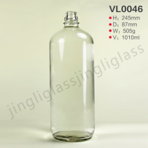 Cylinder Shaped Vodka Bottle with Round Body pictures & photos