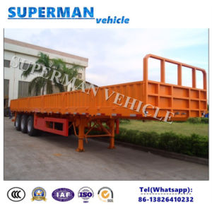 40FT Tri-Axle Bulk Cargo Sidewall Container Truck Semi Trailer pictures & photos