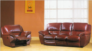 Living Room Recliner Sofa 3 2 1 With Genuine Leather Set