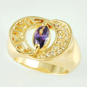 14k Gold Plating Fashion Jewellery Ring (A01597R1W)