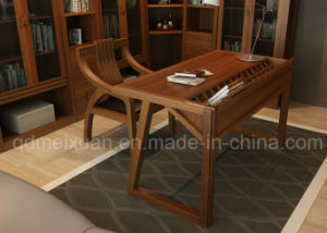 Modern Walnut Wood Study Room Furniture Computer Desk (M-X2484) pictures & photos