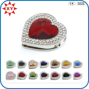 Colorful Heart Shaped Rhinestone Bag Hangers pictures & photos