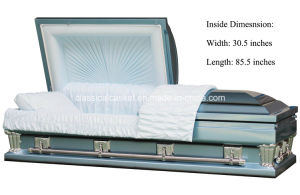 Frank Blue Oversize 31 Inches Casket pictures & photos