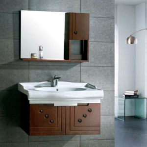 Modern Style Solid Wood Bathroom Cabinet Bathroom Vanity (ADS-649) pictures & photos