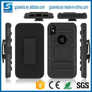 half off a02b8 ff954 2018 Best Selling Rugged Armor Kickstand Holster Case for iPhone X