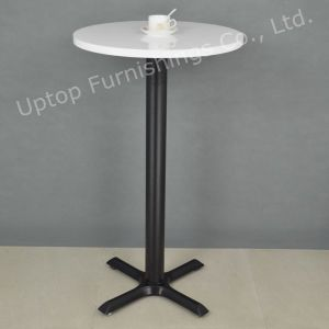 Promotional White High Round Cocktail Bar Table (SP-BT676) pictures & photos