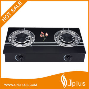 Kitchen Appliance Glass Top Two 135mm Infrared Burner Gas Cooker Jp-Gcg210 pictures & photos