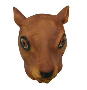 full head animal mask farmyard squirrel mask halloween costume mask