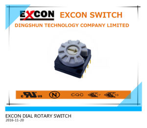 3+3 Pins 7.0mm Rotor Rotary DIP Switch with Straight Terminal
