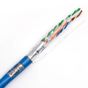 SFTP CAT6 LAN Cable with Fluke Shielded Line with Ripcord Twisted Pair with Drain Wire pictures & photos