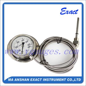 All Stainless Steel Thermometer-Remote Reading Thermometer-Flange Capillary Thermometer
