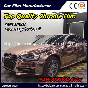 New Arrival Color~~ Top Quality Glossy Chrome Smart Car Vinyl Wrap Vinyl Film Good Stretch pictures & photos