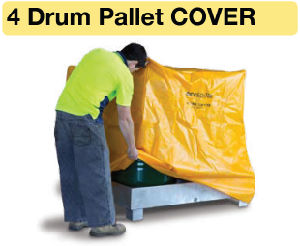 Westco 4 Drum Pallet Cover