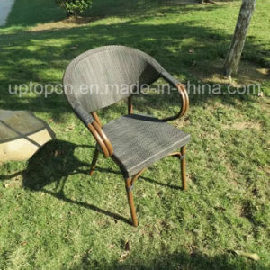 Outdoor and Indoor Restaurant Furniture Set with PE Rattan Chair and Round Table (SP-CT836) pictures & photos