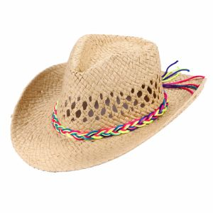 Western Cowboy Strawhat with Plaited String Hatband