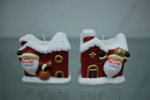 Xmas Resin Candle Holder Home Decor Furniture Ornament