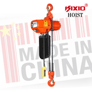 Crane Parts Fixed Type Electric Chain Hoist with Upper Hook pictures & photos
