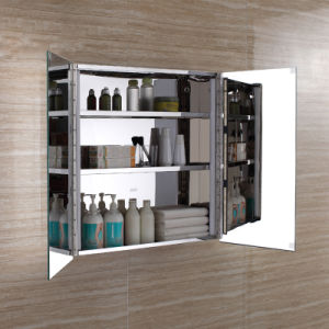 Popular Europe Design Stainless Steel Bathroom LED Mirror Cabinet pictures & photos