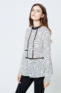 2017 Garment Factory in China Plus Size Printed Chiffon Long Sleeve Bulk  Wholesale Womens Clothing