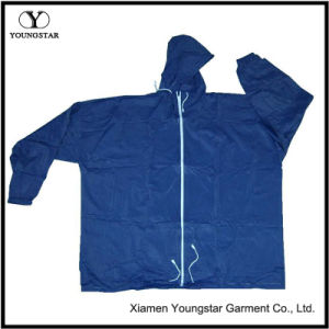 Popular Cheap Waterproof Jacket Blue Wind Athletic Rain Jacket pictures & photos