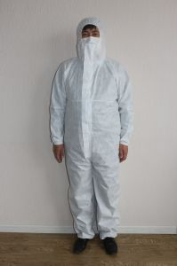 Industrial Protective SMS Coverall S4-4520 with Type 5/6 Certificate pictures & photos