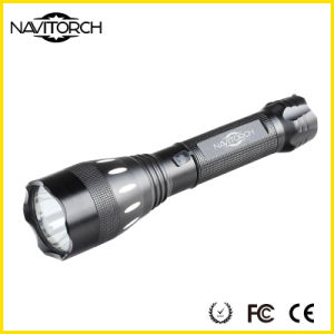 Black Aluminium Alloy Rechargeable CREE XP-E LED Torch (NK-17)