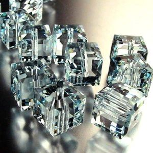 5601 Blue Crystal Square Bead- Crystal Jewelry Bead (TL09080328)