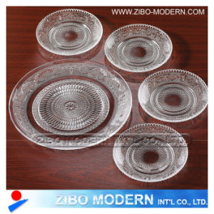 Wholesale Fashion Clear Glass Plates 5PC pictures & photos