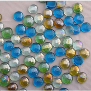 Decoration Pebble Stone Flat Glass Marbles pictures & photos