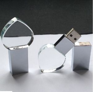 Newsale Inside Engraving Logo Colorful Crystal USB (GC-J006)