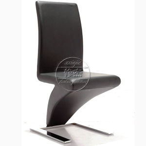 Super Black Faux Leather Upholstered Chrome Finish Dining Chair For Sale Beatyapartments Chair Design Images Beatyapartmentscom