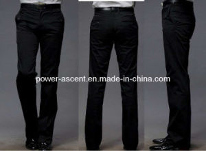 Mens Slim Fit Wrinkle-Free Formal Dress Pants pictures & photos