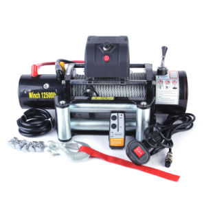 12500lb Electric Winch with High Torque Force Motor