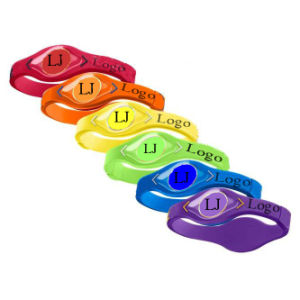 Personalized Swirled Silicone Rubber Wrist Bands