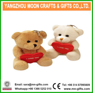 Plush Valentine Teddy Bear Key Chain Key Ring pictures & photos