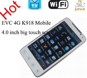 EVC 4G K918 4.0 Inch Touch Screen Quad Band WiFi and TV Java Cell Phone