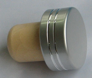 Aluminium Cap Synthetic Cork Wine Bottle Stopper (TBEH19)